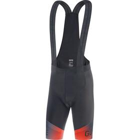 GORE WEAR Ardent Fade Bib Shorts+ Men, nero/rosso